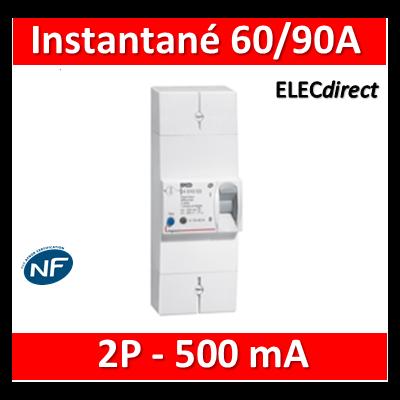 Legrand - Disjoncteur de branchement EDF - bipolaire - 60/90A instantané - 500MA - 401002