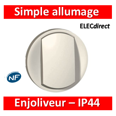 Legrand Céliane - Enjoliveur simple allumage blanc - IP44 - 067801