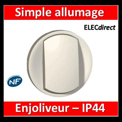 Legrand Céliane - Enjoliveur simple allumage blanc - IP44 - 067801