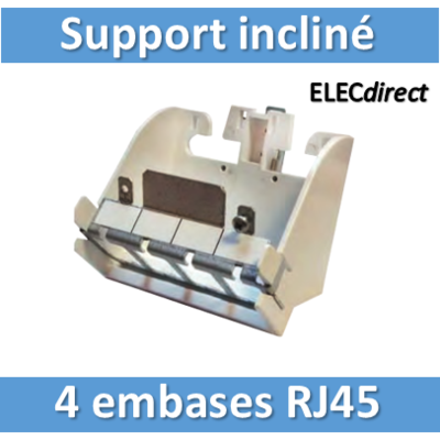 Tonna - Support incliné 4 embases RJ45 - 828060
