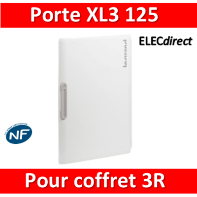 Legrand - Porte coffret XL3 125 - Coffret 3 rangées - IP40/IK09 - 401863