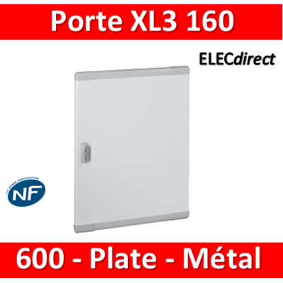 Legrand - Porte coffret XL3 160 - H. 600mm - Plate - Métal - 020273