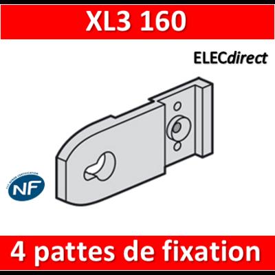 Legrand - 4 Pattes de fixation murale - XL3 160 - 020100