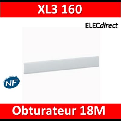 Legrand - Obturateurs XL3 RAL 7035 pour plastron métal ou isolant - 18M - XL3 160/Plexo - 001665