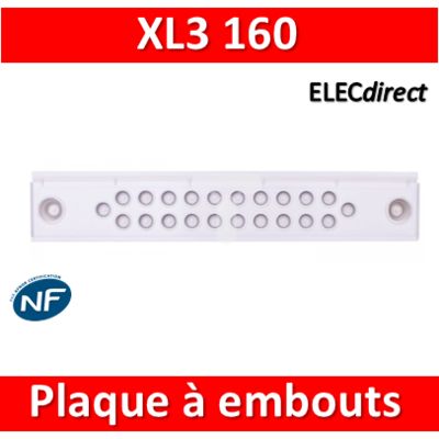 Legrand - Plaque à embouts - XL3 160 - 020021