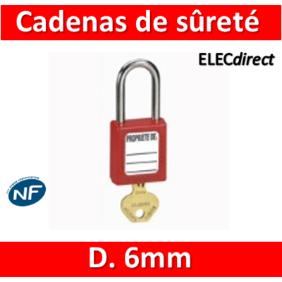 Legrand - Cadenas de sûreté - D. 6mm - 022797