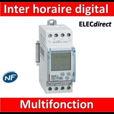 Legrand - Interrupteur horaire programmable digital - multifonction - AUTO -  2 sorties - 16A - 412641