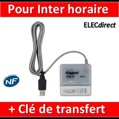Legrand - Logiciel de programmation et clé de transfert - pour inter horaire  - 412873