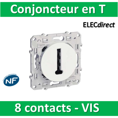 Schneider Odace - Conjoncteur en T - 8 contacts - s520496
