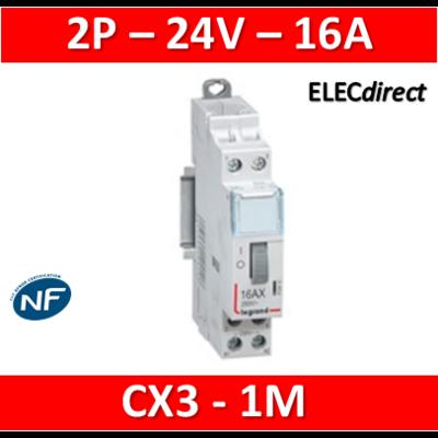 Legrand - Télérupteur CX3 - Bipolaire 16A - 24V - 412410