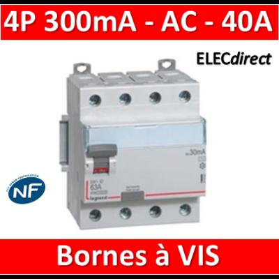 LEGRAND - Interrupteur différentiel DX3-ID 4P 40A - 300mA - AC - 411665