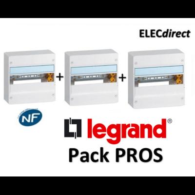 Legrand - Pack PROS - Tableau électrique 1 rangée - 13M - 401211x3