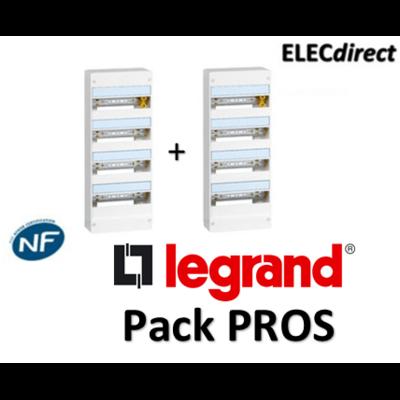 Legrand - Pack PROS - Tableau électrique 4 rangées - 52M - 401214x2