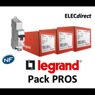 Legrand - Pack PROS - 19 Disjoncteurs DNX3 - 406780x2 + 406782x5 + 406783x5 + 406784x5 + 406786x2