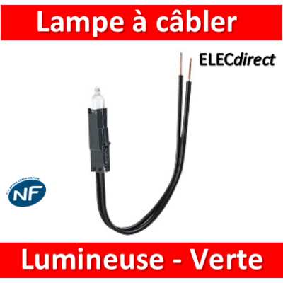 Legrand Oteo - Lampes à câbler - 230V - Fluorescent vert - témoin - 089907