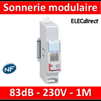 Legrand - Sonnerie modulaire 230V - 83dB - 1M - 004107