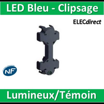 Schneider Odace - Témoin/Lumineux LED Bleu - clipsage - s520292