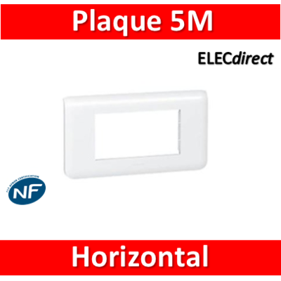 Legrand Mosaic - Plaque 5 modules - horizontal - 078815