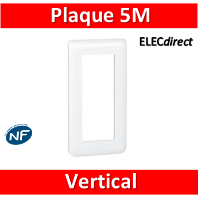 Legrand Mosaic - Plaque 5 modules - vertical - 078825