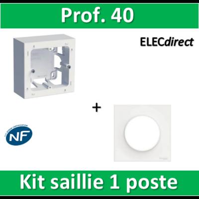 Schneider Odace - Kit Cadre saillie 1 poste + plaque - s520762+s520702