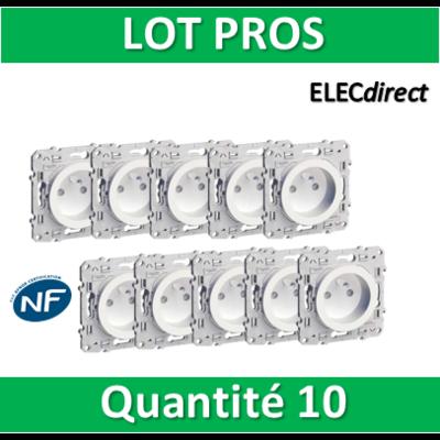 Schneider Odace - LOT PROS - Prise de courant - 2P+T 16A - 250V - s520059x10