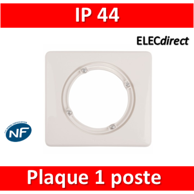 Legrand Céliane - Plaque simple  - IP44 - Blanc - 069071