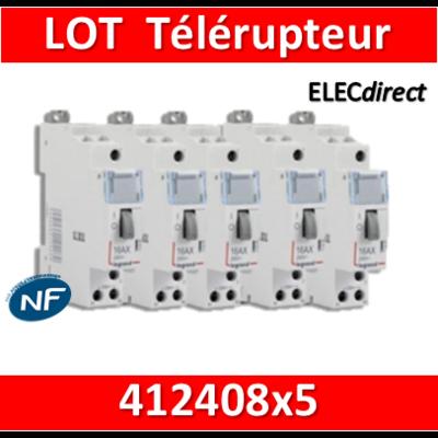 Legrand - LOT PROS - Télérupteur CX3 - Unipolaire 16A - 230V - 412408x5
