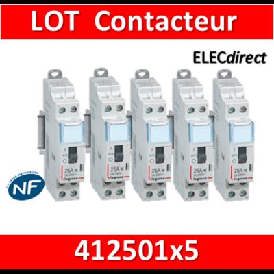 Legrand - LOT PROS - Contacteur jour/nuit - 230V - 412501x5