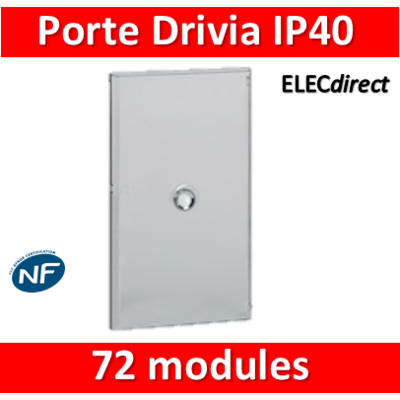 Legrand - Porte Drivia transparente 72 modules IP40 - IK07 pour coffret 401224 - 401244