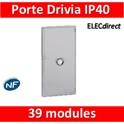 Legrand - Porte Drivia transparente 39 modules IP40 - IK07 pour coffret 401213 - 401343