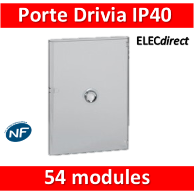 Legrand - Porte Drivia transparente 54 modules IP40 - IK07 pour coffret 401223 - 401243