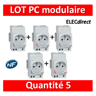 Legrand - LOT PROS - PC 2P+T 16A 220V  à  Eclips Modulaire - 004280x5