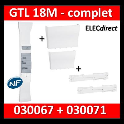Legrand - Kit GTL 18M - Avec 2 couvercles complet - 65 x 355 mm + 1 cornet - 030067+030071