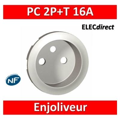Legrand Céliane - Enjoliveur PC 2P+T blanc - 068112 (ancien modèle)
