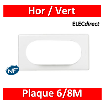 Legrand Céliane - Plaque 6/8M - Blanc - 066636