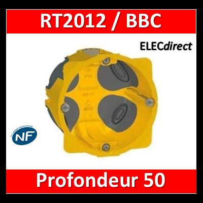 Legrand Batibox - Boîte d'encastrement 1 poste BBC - Prof. 50 - 080031