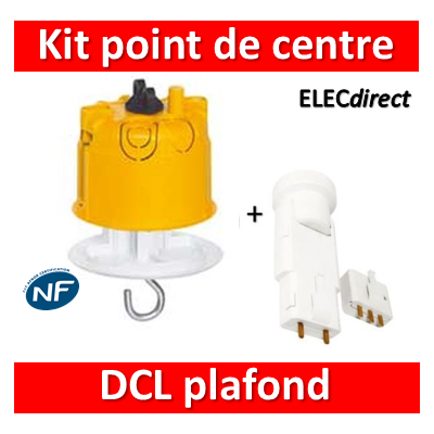 Legrand Batibox - Kit point de centre DCL+ Douille/Fiche SIB - 089337+11127