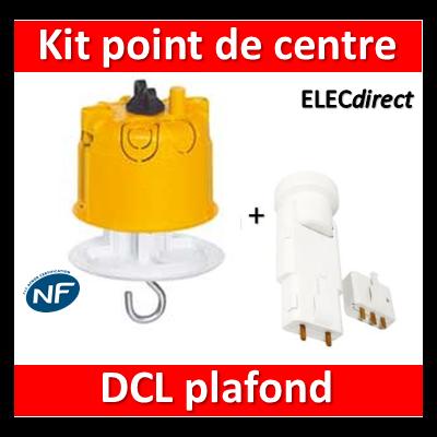 Legrand Batibox - Kit point de centre DCL+ Douille/Fiche SIB - 089337+11127