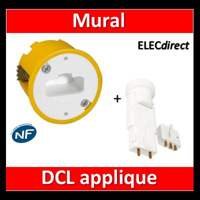 Legrand Batibox - Boîte luminaires pour applique + Douille/Fiche SIB - Prof. 40 - 089304+11127