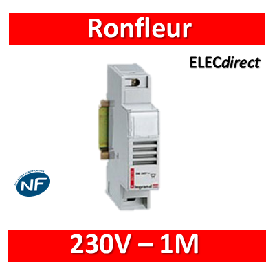 Legrand - Ronfleur modulaire 230V - 73dB - 1M - 004113