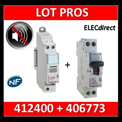 Legrand - Télérupteur CX3 silencieux unipolaire 16A - 230V + disjoncteur 10A DNX3 - 412400+406773
