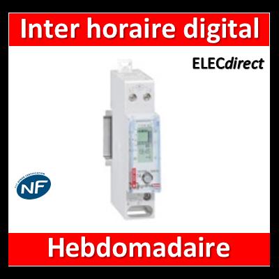 Legrand - Interrupteur horaire hebdomadaire digital avec réserve de marche - 1M - 003705