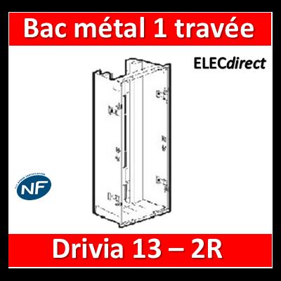 Legrand - Bac métal 1 travée Drivia 13 - coffret 2R + platine + coffret com. - 401441