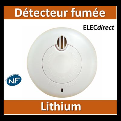 Détecteur de fumée - Garantie 10 ans - DAAF - Lithium - Livré avec pile