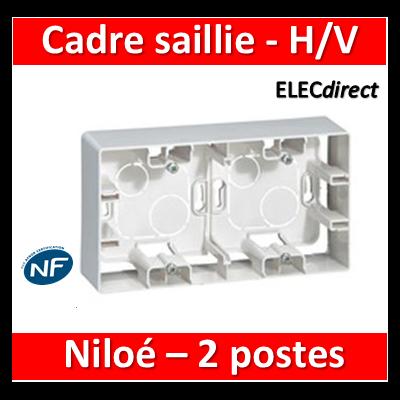 Legrand Niloé - Cadre saillie 2 postes - Horizontal/vertical - 664799