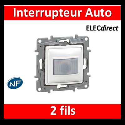 Legrand Niloé - Interrupteur automatique 2 fils 400W - Blanc - 665118