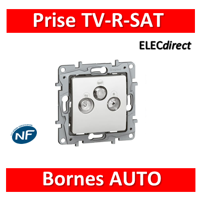 Legrand Niloé - Prise TV/R/SAT blindée Blanc - 664763