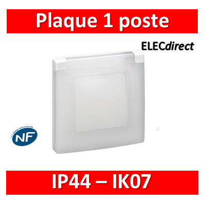 Legrand Niloé - Plaque 1 poste - IP44/IK07 - 665000