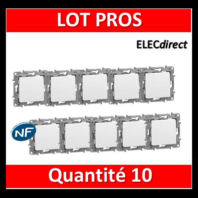 Legrand Niloé - LOT PROS - Va et Vient 10A Blanc - 664701x10