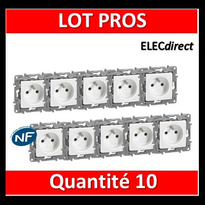 Legrand Niloé - LOT PROS - Prise de courant 2P+T 16A - Blanc 664735x10